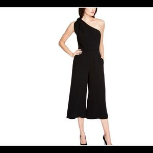 Rachel Roy tie-trim one shoulder jumpsuit